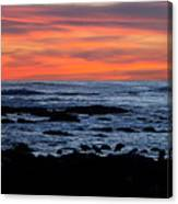 Sunset And Rocks Canvas Print