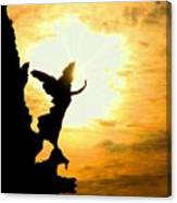 Sunset Angel Canvas Print