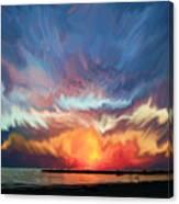 Sunset Art Landscape Canvas Print