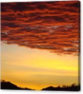 Sunset Art Prints Canvas Orange Clouds Twilight Sky Baslee Troutman Canvas Print