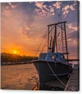 Sunset At Alviso Canvas Print