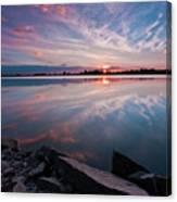 Sunset at Anglezarke Reservoir #1, Rivington, Lancashire, North West England Canvas Print
