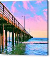 Sunset At Avila Beach Pier Canvas Print