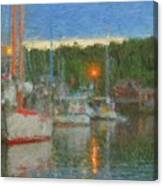 Sunset At Boothbay Harbor Maine Canvas Print