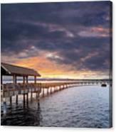 Sunset At Boulevard Park In Bellingham Washington Canvas Print