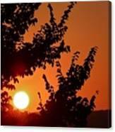 Sunset At Budapest Canvas Print