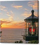 Sunset At Cape Meares Canvas Print