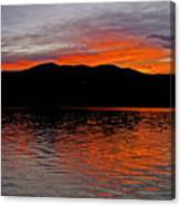 Sunset At Carter Lake Co Canvas Print