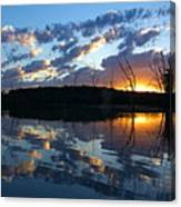 Sunset At Chester Lake Canvas Print