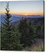Sunset At Clingmans Dome Canvas Print