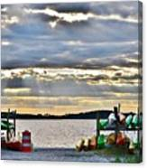 Sunset At Coastal Kayak Canvas Print