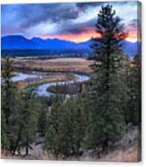Sunset At Columbia Wetlands Canvas Print