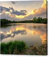 Sunset At Community Lake #8 Canvas Print