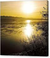 Sunset At Cook Inlet - Alaska Canvas Print
