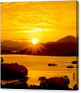 Sunset At Coron Bay Canvas Print