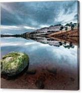 Sunset at Dovestone Reservoir, Greater Manchester, North West England Canvas Print