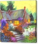 Sunset At Farm House Canvas Print