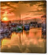 Sunset At Fisherman's Cove Canvas Print