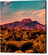 Sunset At Four Peaks Canvas Print