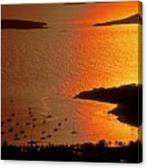 Sunset At Great Cruz On St. John Canvas Print
