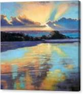 Sunset At Havika Beach Canvas Print