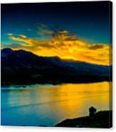 Sunset At Horsetooth Reservoir Canvas Print