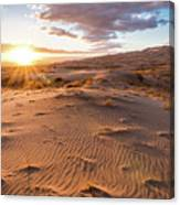 Sunset At Kelso Dunes Canvas Print