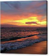 Sunset At Lahaina On Maui, Hawaii Canvas Print