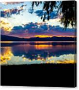 Agency Lake Sunset, Oregon Canvas Print