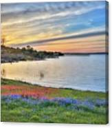 Sunset At Lake Buchanan Canvas Print