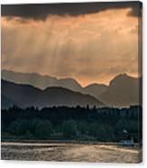 Sunset At Lake District Canvas Print