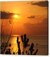 Sunset At Lake Huron Canvas Print