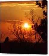 Sunset At Lake Michigan Canvas Print