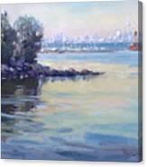 Sunset At Lake Ontario  Canvas Print