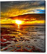 Sunset At Low Tide Canvas Print