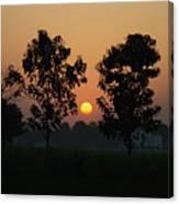 Sunset At Lumbini Canvas Print