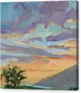 Sunset At Makawao Canvas Print