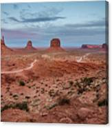 Sunset At Monument Valley No.2 Canvas Print
