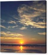 Sunset At Moonlight Beach Canvas Print