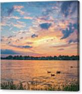 Sunset At Morse Lake Canvas Print