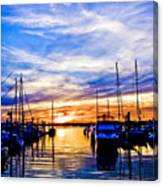Sunset At Newport Canvas Print