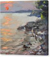 Sunset At Niagara River Canvas Print