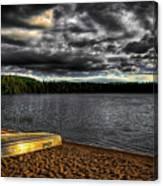 Sunset At Nicks Lake Canvas Print
