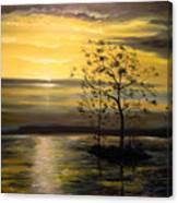 Sunset At Oceanside Canvas Print