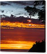 Sunset At Oswald West Canvas Print