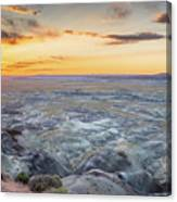 Sunset At Painted Desert Canvas Print