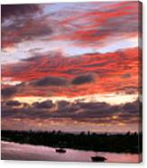 Sunset At Pass A Grille Florida Canvas Print