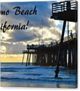 Sunset At Pismo Beach California Canvas Print
