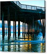 Sunset At Pismo Beach Pier Canvas Print
