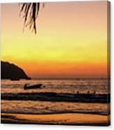 Sunset At Playa La Ropa Canvas Print